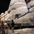 Stairs to Ephors - Volumes sculpted out of styro foam and urethane, final texture out of shotcrete refined finition by sculpture team