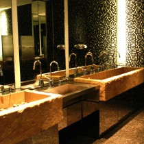 HOTEL W in Montreal, 2004 - Sculpture of (8) washing basins, armed cement.