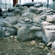 BILLING BRIDGE MALL Ottawa, 1999 -Sculpted water basin out of styro foam, emptied like a shell covered with cement and painted