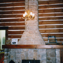 LE RELAIS Restaurant, Mont-Tremblant 1999 - False cement stone production, installation and paint, stamped cement floor