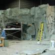 GENERATOR ROOM set - Installation of plaster rock panels