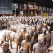 Mausoleum set - Life size chinese terracotta warriors and horses / Made from clay and styro sculpted models, molded and casted in plaster. We made close to 500 soldiers, 12 small cavalier's horses, 16 bigger one and 4 large ones for Jet Lee's Chariot