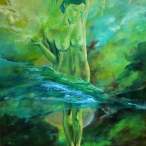 Spa La Source 2005 - Painting for the Spa lobby