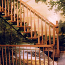 Mont-Tremblant 1999 - Victorian trompe l'œil painting inside a three-story house