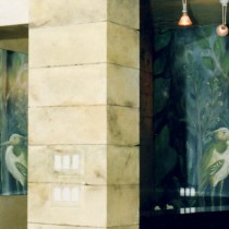 Estetica Hairdressing Salon 1998 - Painting, casting of different elements and patines for the salon lobby