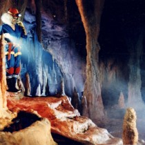 Labatt Bleue / commercial TV 30 sec 1991 - Background painting of a rock cave