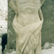 One Way Out, film, 2001 - Caryatid sculpture in clay, molded and produced in plaster