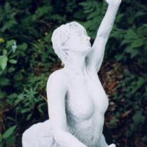 Wakan - Nature Sacrée 1998 - Sculpture en plâtre peint 41 cm de hauteur. PROJET PERSONNEL