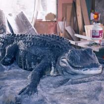 Everblades Arena en Floride, 1998 - Sculpture en plasticine, moulée, produit en résine de fibre de verre et patinée. Longueur 12 pieds