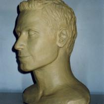 Misguided Angel, Série TV, 1999 - Sculpture en plasticine de l'acteur David Lipper -  Tel quel pour les besoins du film