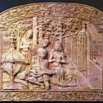 Le Roman de la Rose, illustration du XV 1995 - Sculpture en plasticine, moulée et produite en plâtre pour reproduction commerciale