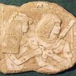 Couple égyptien,tombe du Vizir Ramose à Thèbes, 1364av J.C, 1993 - Sculpture en plasticine, moulée et produite en plâtre pour reproduction commerciale
