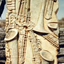 Jazz 1997 - Sculpture en plasticine, moulée et produite en plâtre pour fin de reproduction commerciale