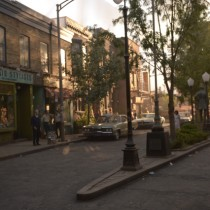 Christopher Street has been rebuilt, reproduced and shot at Alstom workshop in Montreal