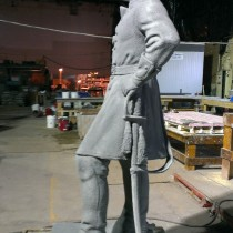 Sculpture of General Philip Henry Sheridan for Christopher Park, sculpted by Paul Colpron and Lucie Fournier