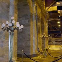 EXTERIOR MANHATAN set - Interior entrance half-columns and ornementations produced in plaster
