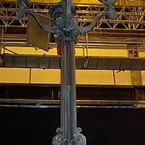 EXTERIOR MANHATAN set - Lamp posts sculpted out of cla, molded, produced in plastic, fiber glass and thermoforming