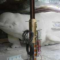 LE SENS DE L'HUMOUR  2010 - Beluga sculpture 34 ft long