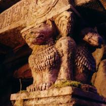 Exterior Temple set - Detail of lions cariatids