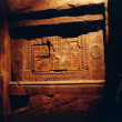 Open Tunnel set - Detail of cuneiform writing stones casted in plaster